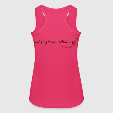 Wolfgang Amadeus Mozart Signature - Women's Breathable Tank Top