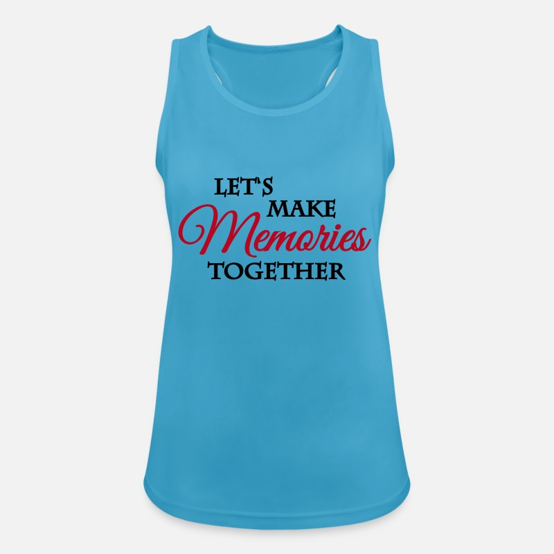 Flirt Tanktops - Let's make memories together - Vrouwen sport tank top saffierblauw