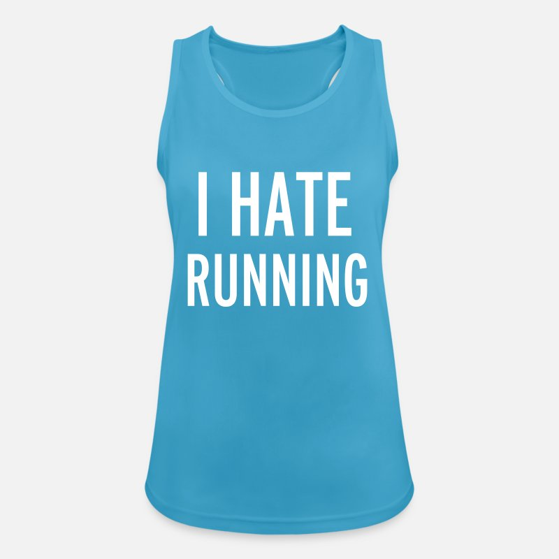 Running Tank Tops - Hate Running - Women's Sport Tank Top sapphire blue