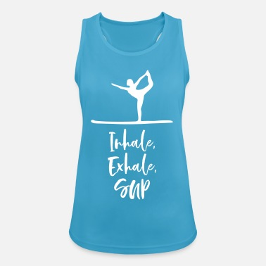 yoga sup inhale exhale gift - Women's Sport Tank Top