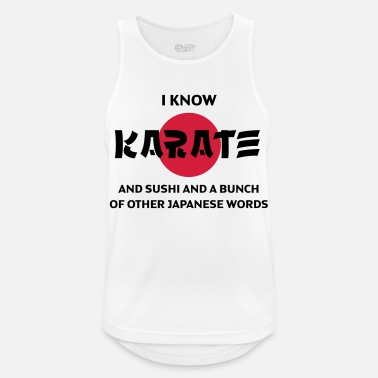 Karate I can say karate and many other words! - Men's Sport Tank Top