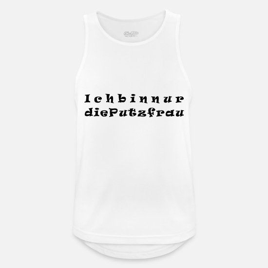 Love Tank Tops - I'm just the cleaning lady - Men's Sport Tank Top white