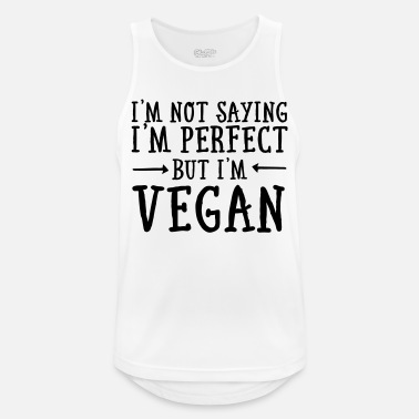 Im I'm Not Saying I'm Perfect - But I'm Vegan - Mannen sport tank top