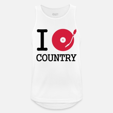 Dj I dj / play / listen to country - Mannen sport tank top