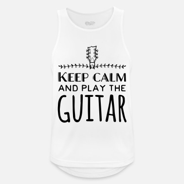 Keep calm and play the guitar - Men's Sport Tank Top