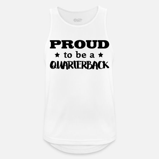 Proud Military Wife Tank Tops - quarterback proud to be - Men's Sport Tank Top white