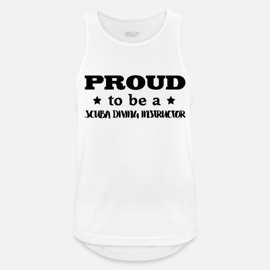 Water Tank Tops - scuba diving instructor proud to be - Men's Sport Tank Top white