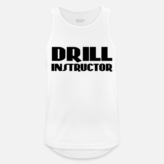 Instructor Tank Tops - Drill Instructor - Männer Sport Tanktop Weiß