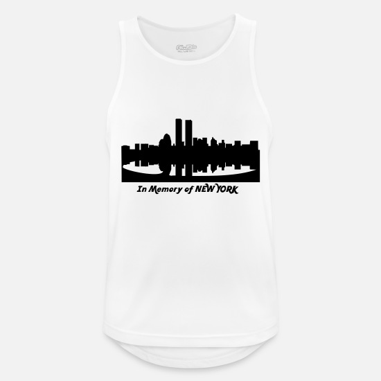 New York Tank Tops - in memory of new york - Männer Sport Tanktop Weiß