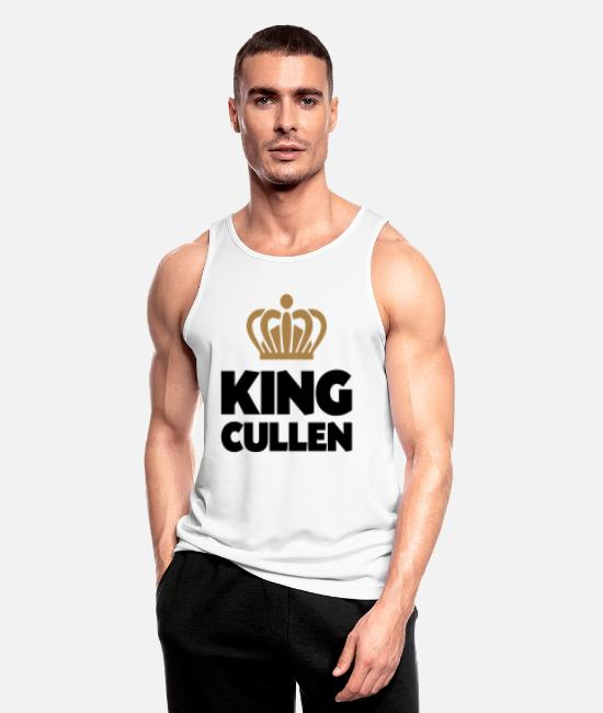 Crown Tank Tops - King cullen name thing crown - Men's Sport Tank Top white