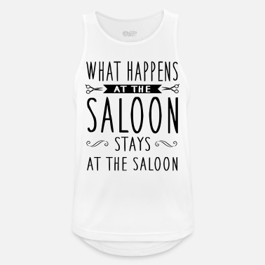 Salon Fryzjerski What happens at the saloon stays there - Sportowy tank top męski