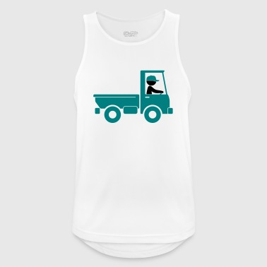 A pickup truck drives to a warehouse - Men's Breathable Tank Top