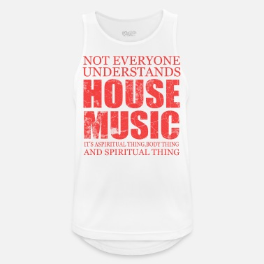House Music Song Sound Gift Pop Rock Techno House Note - Men's Breathable Tank Top
