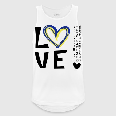 LOVE SOMEONE WITH DOWN SYNDROME | The colorful zebra - Men's Breathable Tank Top