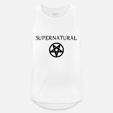 Supernatural Supernatural pentagram motif white - Men's Breathable Tank Top