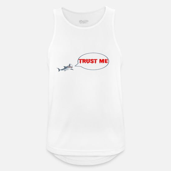 Shark Tank Tops - Shark fish shark fin sharks confidence saying - Men's Sport Tank Top white