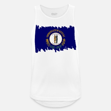 National Kentucky USA - Flag - brush vertical - Männer Sport Tanktop