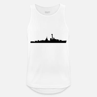 Navy Vector Navy warship Silhouette - Débardeur respirant Homme