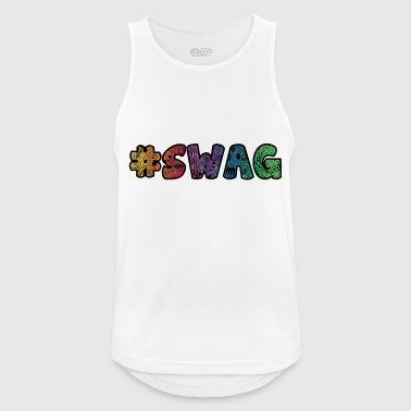 Hashtag swag lettering colorful ornaments - Men's Breathable Tank Top