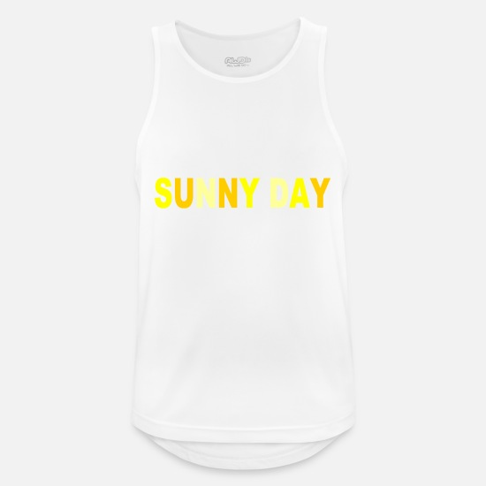 Grill Tank Tops - SUNNY DAY - Men's Sport Tank Top white