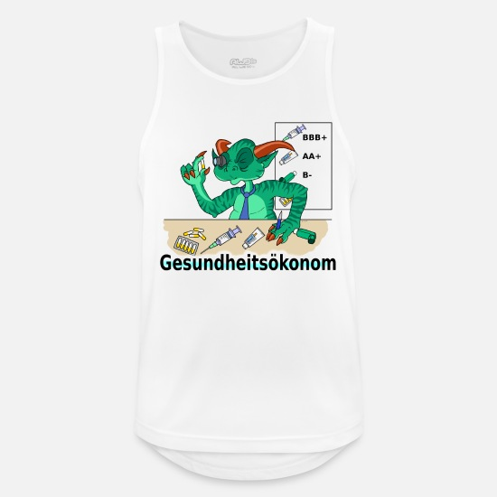 Manager Tank Tops - health economist - Men's Sport Tank Top white