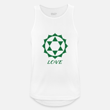 Love Fourth Chakra Anahata Yoga T-shirt - Mannen sport tank top