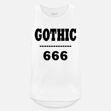 Gothic Gothic Black - Men's Breathable Tank Top
