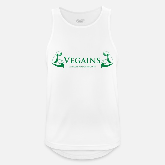Vegan Tank Tops - Vegan Rebel Green Edition - Männer Sport Tanktop Weiß