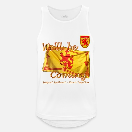 Scottish Tank Tops - Scottish Lion Rampant Football - Men's Sport Tank Top white