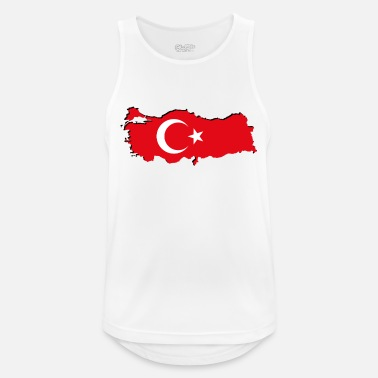 Geographic Turkey flag in geographic form - Men's Breathable Tank Top