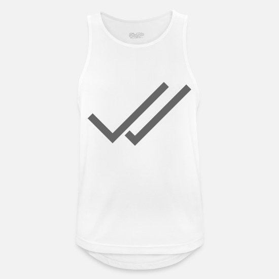 Trend Tanktops - Whats App Hook Grey Double - Mannen sport tank top wit