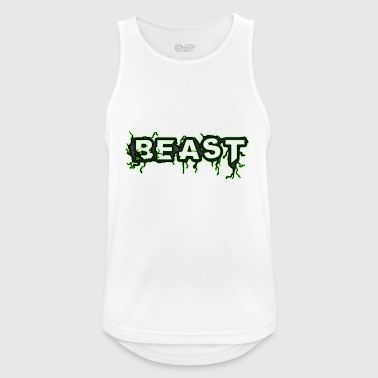 BEAST MONSTER HORNY WRITING HARD GUY - Pustende singlet for menn