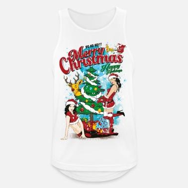 Jul SEXY GOD JUL - Sexig Jul kvinna skjorta - Sporttanktopp herr e627860614d01