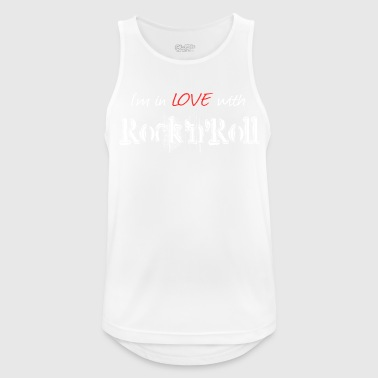 Rock N Roll Rock n Roll White - Pustende singlet for menn