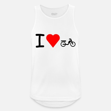 Moped Jeg elsker moped moped moped - Sportsinglet for menn