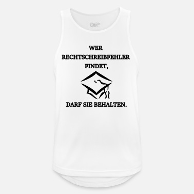 Spell spelling, orthography - Men's Breathable Tank Top