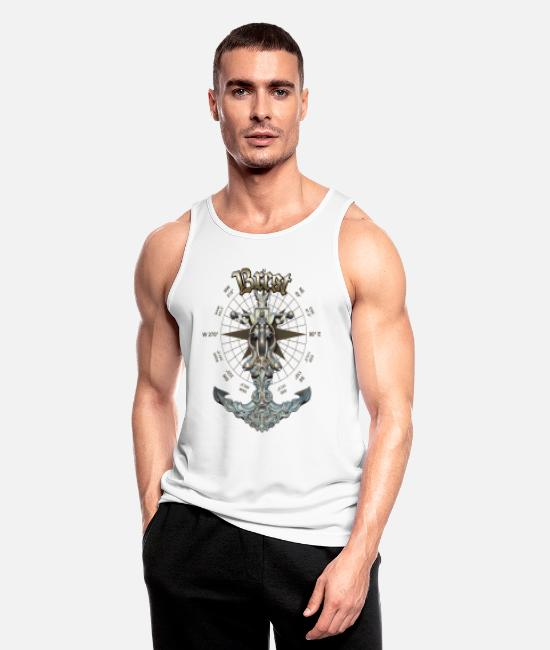 Diver Tank Tops - Brest Anchor Nautical Sailing Boat Summer - Men's Sport Tank Top white