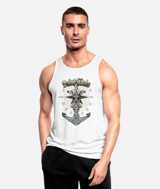 Diver Tank Tops - Saint-Malo Anchor Nautical Sailing Boat Summer - Men's Sport Tank Top white
