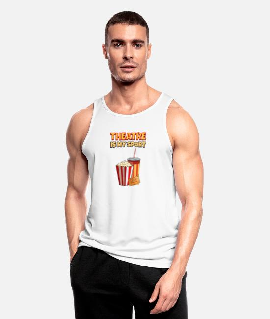 Movie Tank Tops - Theater Is My Sport Funny gift - Men's Sport Tank Top white