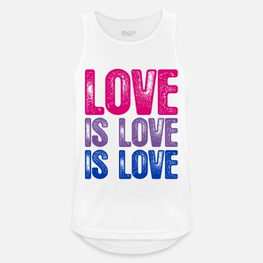 Lovely Bisexual Love is Love is Love - Men's Breathable Tank Top