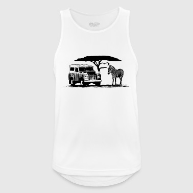 Zebra - Safari Adventure - Wildlife Ranger Jeep - Männer Tank Top atmungsaktiv