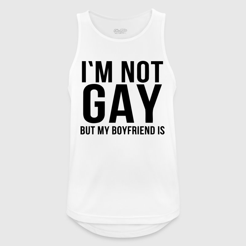 I'M NOT GAY - BUT I MEAN FRIEND! - Men's Breathable Tank Top