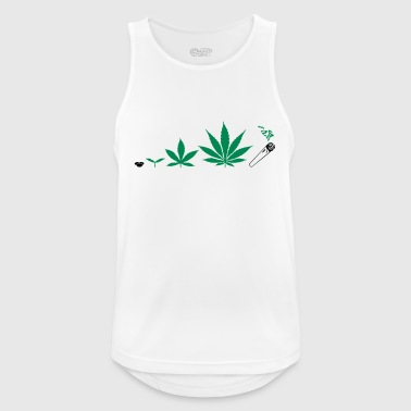 Cannabis development - Camiseta sin mangas hombre transpirable