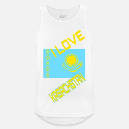 Flag Tank Tops - KAZAKHSTAN - Men's Sport Tank Top white