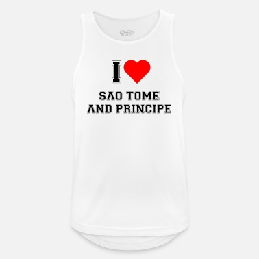 Sao Tome And Principe I love Sao Tome and Principe - Men's Sport Tank Top