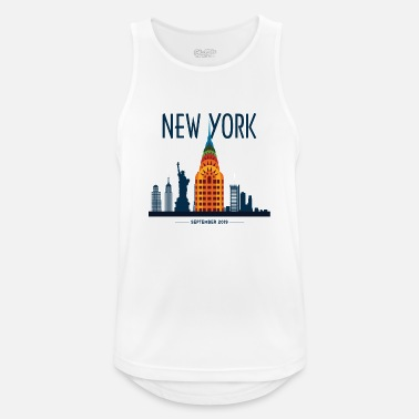 Nyc New York Skyline Graphic - Men's Sport Tank Top