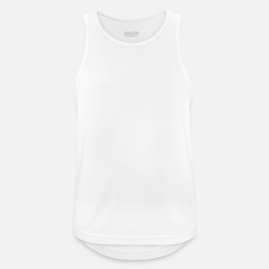 No Tank Tops - Iron Is My Therapy - Men's Sport Tank Top white