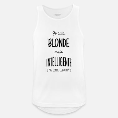 Intelligence Blonde mais intelligente - Débardeur sport Homme