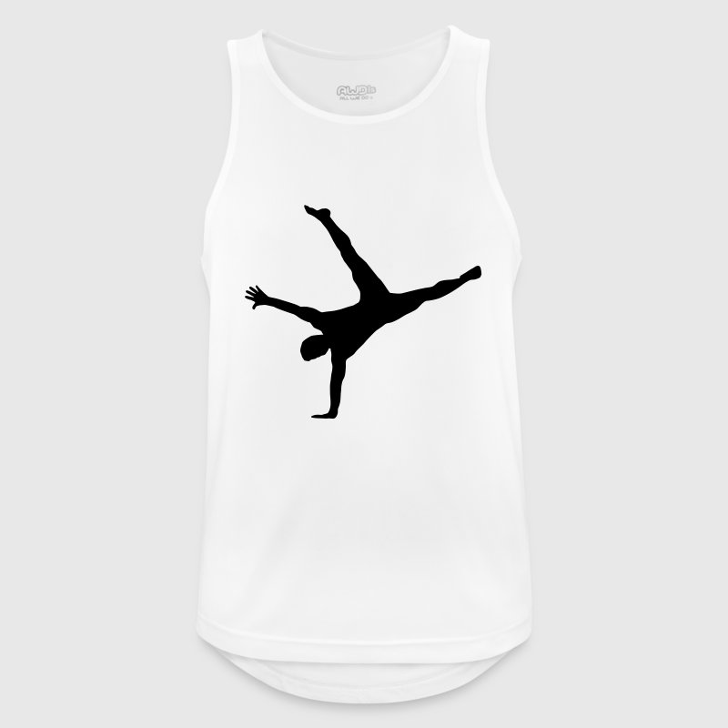 gymnast, gymnastics - breakdance, handstand, flair - Camiseta sin mangas hombre transpirable