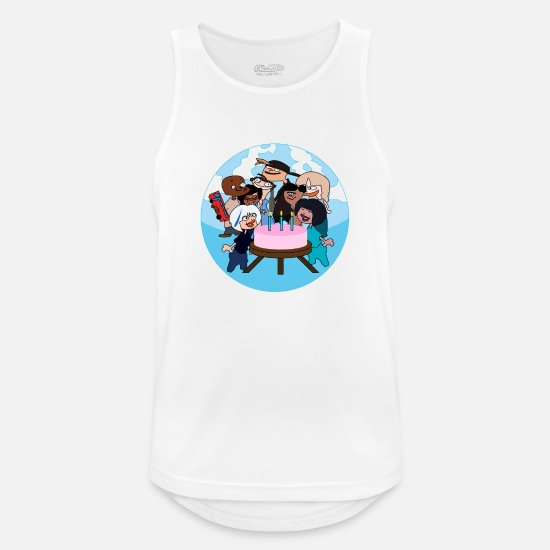 Bursdag Tank Tops - birthday celebration! - Men's Sport Tank Top white